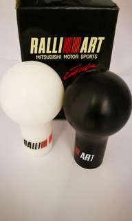 Mitsubishi rally art gear knob