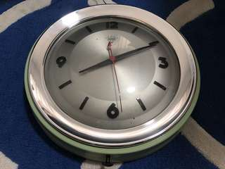 "12"" Diamond Brand Wall Clock in Original Condition - Made in Shanghai (China) in the 1960s - VERY RARE"