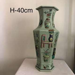 A Fine hexagonal Vase