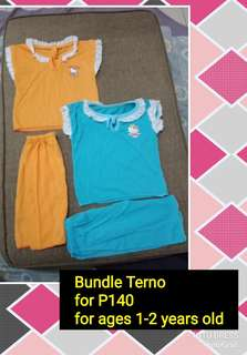 Terno Cloths for ages 1-2 years old