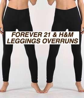 H&M FOREVER 21 LEGGINGS OVERRUNS