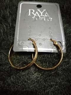 Raya Hoop Gold Earrings