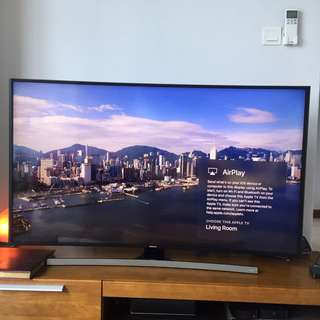 "Samsung 55"" UHD 4K Curved Smart TV JU6600 Series 6."