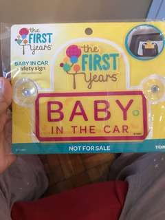 Baby in the Car sign