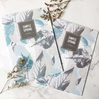 🚚 Floral Leaves Simple Spring Lines Notebook
