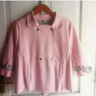 Blazer Korea Pink Lucu