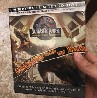 Jurassic Park 4-movie 4k set NEW & SEALED