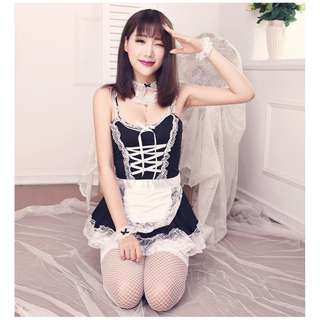 🍒 GSS SALES - Plus Size 3X Japan Cosplay Maid Floral Lace Costume Lingerie Sexy Set