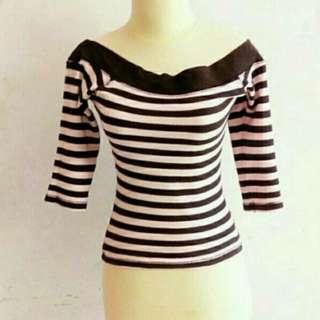 Striped Blouse Sabrina Pink