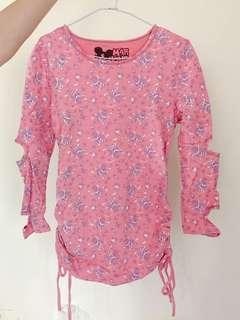 🚚 日系龐克粉色上衣