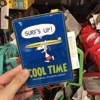 USJ Snoopy滑浪Pass Case