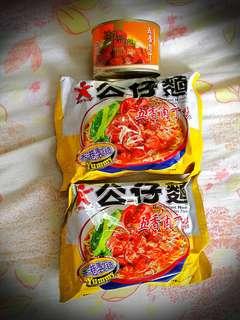 五香肉丁系列# 五香肉丁公仔麵(2包) + 御品皇五香肉丁罐頭142克(1罐)