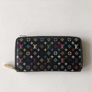 Authentic Louis Vuitton Multicolor Zippy Wallet LV