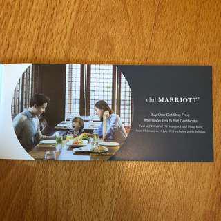 Marriott afternoon tea buy 1 get 1