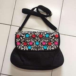 NEW!! sling bag floral black