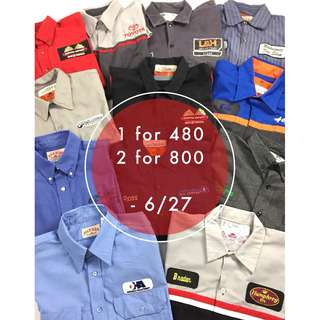 初夏特賣 - 古著工作襯衫 - 兩件800