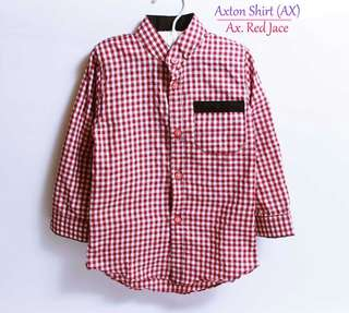 Baju anak laki axton shirt