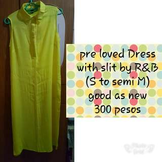 Pre love dress with 2 side slit