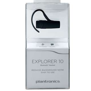 Plantronics Explorer 10 Bluetooth Headset - Retail Packaging - Black