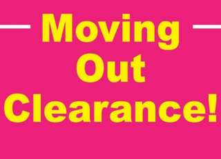 Moving out sale!!