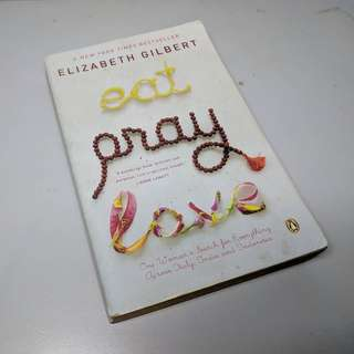 Novel english. Eat pray love by Elizabeth Gilbert