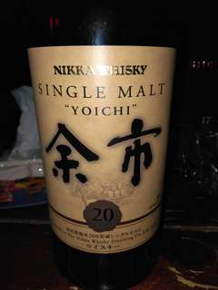 余市 20年 威士忌 whiskey