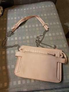 Wildpair Pink Leather Bag