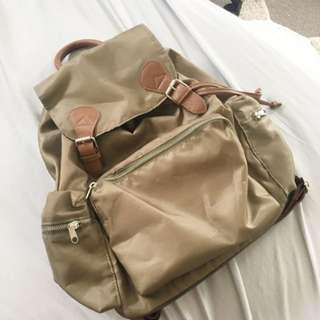 Cotton on nylon backpack