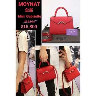 全新 MOYNAT Mini Gabrielle 紅色 牛皮 Red Leather M Logo 銀扣 Silver Hardware 手提袋 肩背袋 手袋 Handbag
