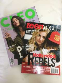 2 FOR $10 Dua Lipa + Chloe Grace Moretz Teen Magazine