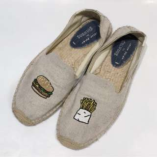 Soludos Jason Polan Burger and Fries Espadrille Flat Shoes