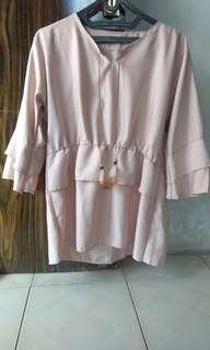 Baju Lengan Panjang Coklat Cantik