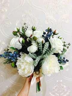 結婚花球 新娘花球 絲花花球 手捧花 花球 假花
