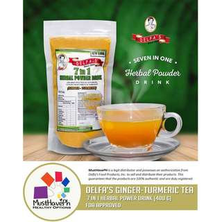 Delfa's Original Turmeric Tea 7 in 1 Herbal Powder Drink (400 g)