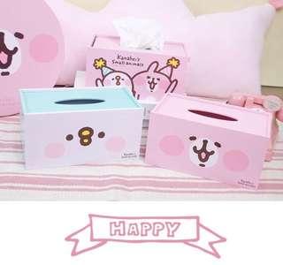 卡娜赫拉木製面紙盒 粉紅兔 台灣代購