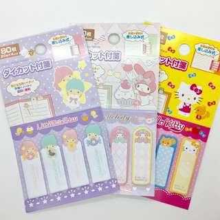 Instocks Sanrio Original Hello Kitty Melody Little Twin Stars Sticky Memo