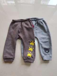 🚚 男童刷毛長褲二件組