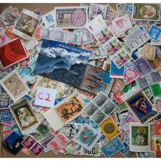 World Mix Stamps 500 pcs lot C2 BL651