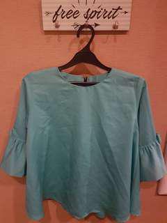 blouse biru tosca