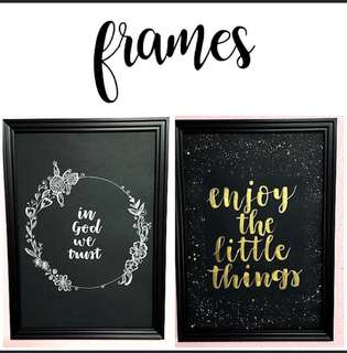 Personalized Frame Customized Photo Frame Frames Customisable Personalise Wedding Gift Corporate Gift Birthday Present Anniversary Couple Gift A3 A4 Calligraphy Handwritten Gradient Background Glitter Splash Floral Wreath Flower Border