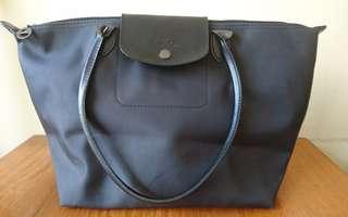 Longchamp Lepliage Size M black Authentic