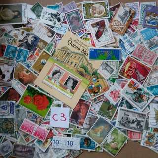 World Mix Stamps 500 pcs lot C3 BL652