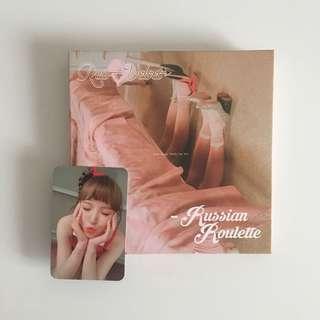 🚚 RED VELVET 第三張迷你專輯「RUSSIAN ROULETTE」[WENDY小卡]