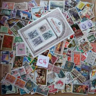 World Mix Stamps 500 pcs lot C4 BL653