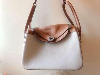 Canvas x fake leather bag from Hong Kong fashion shop