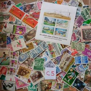 World Mix Stamps 500 pcs lot C5 BL654