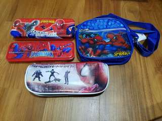 Brand New Spiderman Pencil Case & Sling Bag (All to go @ $5)