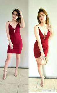 ON HAND Vinia V-Line Dress