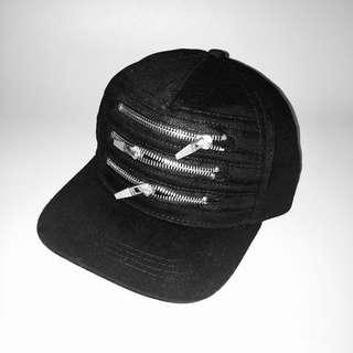 Zara Man Black Jeans Cap with Zips