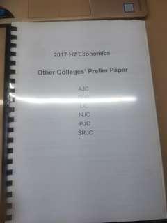 H2 Economics Prelim Papers